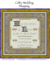 wedding blessing celtic wedding blessing from joan elliott cross stitch charts
