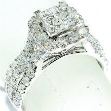 big vintage rings images 2ct w diamond wedding ring princess cut vintage 10mm big white jpg