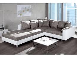 canape blanc et gris d angle design modulable loft blanc gris