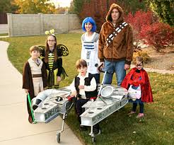 family builds star wars costume for son with cerebral palsy the