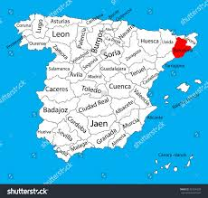 Blank Map Of Spain by Barcelona Map Spain Province Vector Map Stock Vector 327299258