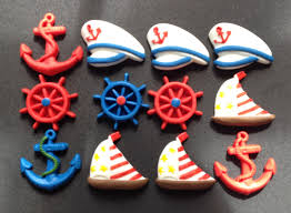 nautical cake toppers 12 fondant edible nautical cupcakes toppers or cake toppers