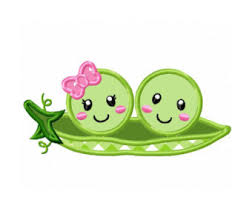 two peas in a pod ornament pea pod applique etsy