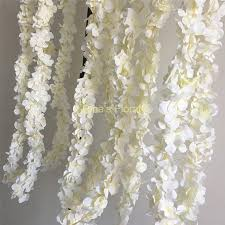 white garland white wisteria garland 70 hanging flowers 5pcs for
