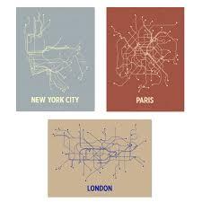 Nyc Subway Map Poster by Subway Map Art My Blog