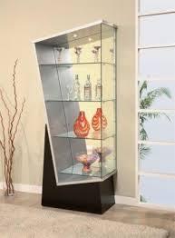 Corner Curio Cabinet Kit Modern Curio Cabinets Foter