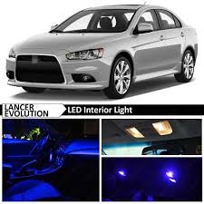 mitsubishi interior blue led lights interior package 2007 2015 mitsubishi lancer