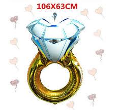 oversize balloons 3pcs 106 63cm diamond ring balloon big helium foil balloons