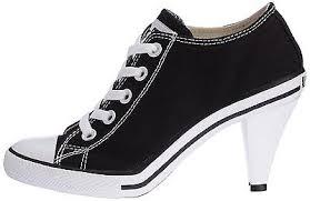 Converse High Heels Nib Converse All Star Heel Ox High Heel Sneaker Black Ladies Shoes