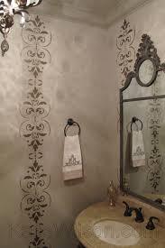 Powder Room Stencil Sugar On Top Decorative Painting Powder Room Makeover