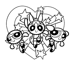 Power Puff Girls Coloring Page Download Power Puff Coloring Page