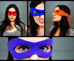 superhero mask tutorial pattern ninja turtle mask teenage