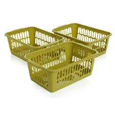 wilko handy baskets medium assorted 3pk at wilko com