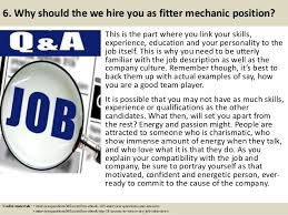 Blind Fitter Jobs Top 10 Fitter Mechanic Interview Questions And Answers