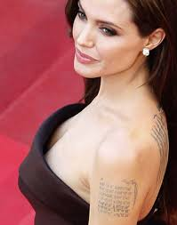 angelina jolie tattoos that will inspire you livinghours