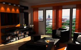 comely small bedroom design ideas with dark orange wall colors new