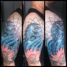 blue foo dogs 25 breathtaking foo dog tattoos