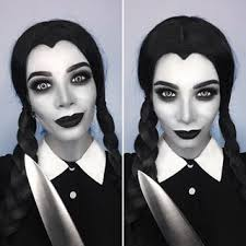 Wednesday Addams Halloween Costumes 25 Wednesday Addams Makeup Ideas