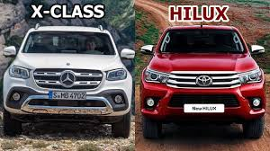 mercedes pick up 2017 toyota hilux vs 2018 mercedes benz x class auto pickup