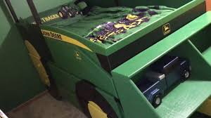 John Deere Bunk Beds Kids John Deere Loader Tractor Bed Youtube