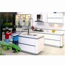 kitchen cabinet doors with aluminum g handle made of laminated