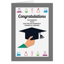 congratulations card pharmacy school graduation congratulations card zazzle