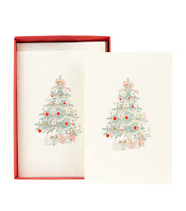 original crown mill tree cards pack of 6 harrods