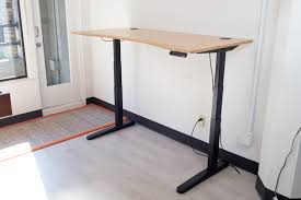 small electric standing desk amazon com tribesigns computer desk height adjustable standing in