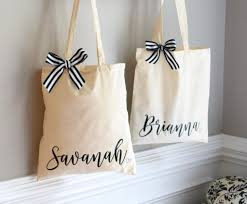 bridal party gift bags bridesmaid tote bags personalized tote bag bridal party tote