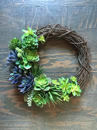succulent wreath wreath faux succulent wreath grapevine wreath