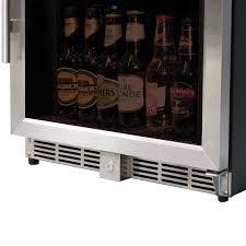 upright glass door bar fridge with quiet operation