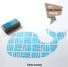 What Side Do Stamps Go On by Diy Cross Hatch Stamp Lines Across