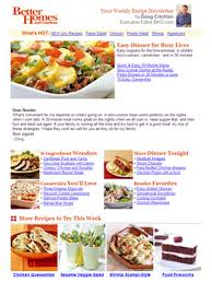 newsletter cuisine weekly food recipe newsletter