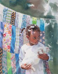 kitty by mary whyte american watercolor artist art children