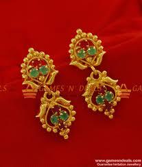 trendy gold earrings er185 trendy daily wear ad multi imitation ear ring south