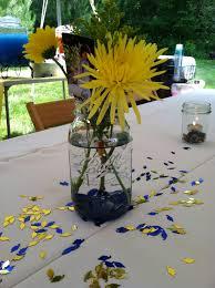 centerpieces for graduation graduation party jar flower goldfish centerpiece