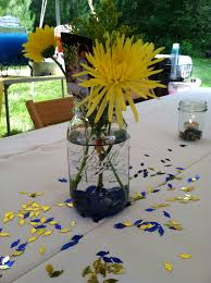 graduation centerpieces graduation party jar flower goldfish centerpiece
