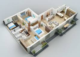 one floor house dazzling 3d house layout design one floor home interior ideas