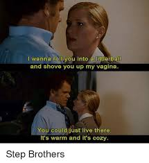 Step Brothers Meme - iwanna roll you into a little ball and shove you up my vagina you
