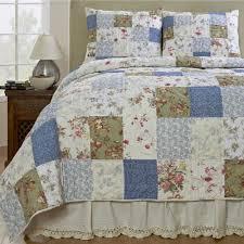 campanille floral patchwork quilt set