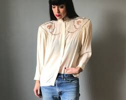 high neck blouse etsy