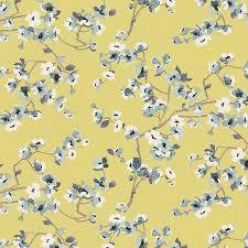 Cherry Blossom Upholstery Fabric Green Cherry Blossom Fabric Cheery Blossom Lemongrass Loom Decor