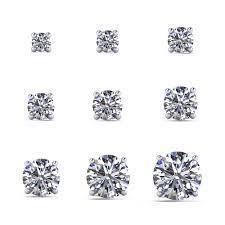 diamond stud size stud earrings