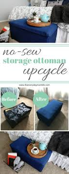 Upcycle Ottoman No Sew Storage Ottoman Upcycle The Everyday