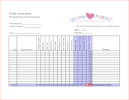 daily activity report template 8 weekly activity report template bookletemplate org