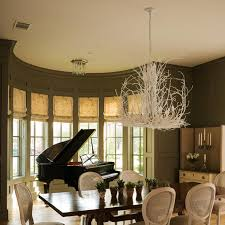 Sarah Richardson Dining Rooms Silhouetted Against A Demilune Bay Window A Glossy Black Piano