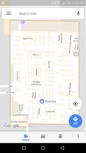 google maps shows an outdated map of the store when you zoom in