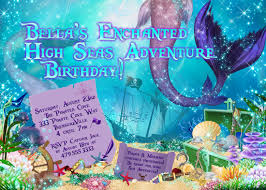 mermaid and pirate party mermaid pirate invitations mermaid