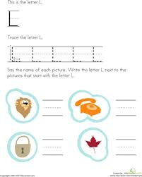 trace and write the letter l worksheet education com