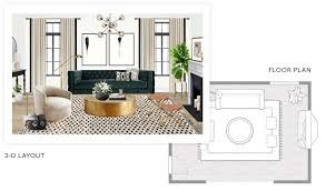 online interior design decorating services havenly an example 3 d layout and floor plan built by an interior designer